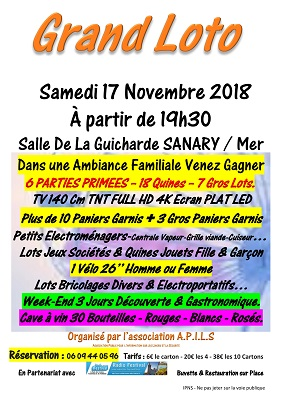 Affiche loto 2018 Sanary-1 Pour Sites Radios